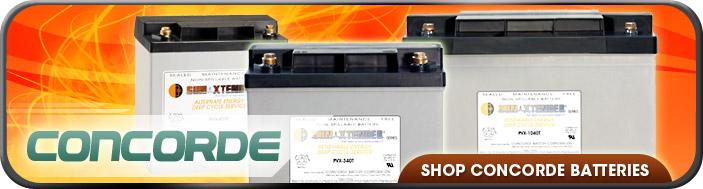 Concorde Sun Xtender AGM Batteries