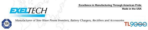 Exeltech Sine Wave Inverters